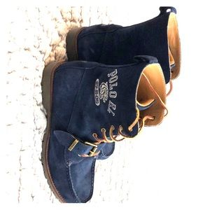 Polo RL blue suede boots